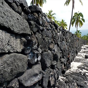 The Wall - Ki'i Pu'uhonua O Honaunau National Park, Island Of Hawaii, HI  by RKreklow
