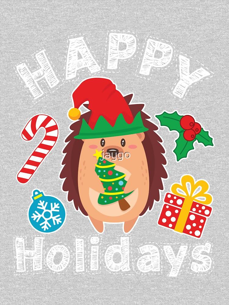 Hedgehog Christmas Hedgehogs Xmas Holiday by jaygo