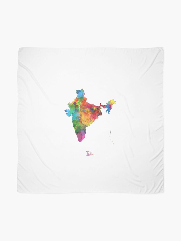 Alternative Ansicht von Indien Aquarell Karte Tuch