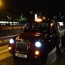London taxi at night by Richmondie