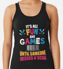Funny Postman T-Shirt Postal Worker Gift Misses A Scan Women's Tank Top
