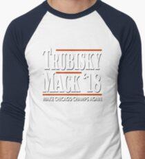 Khalil Mack Mitchell Trubisky Shirt Chicago Bears Football Fans T-Shirt Men's Baseball ¾ T-Shirt