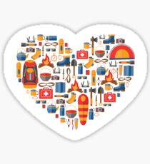 Hiking and tourism love Sticker