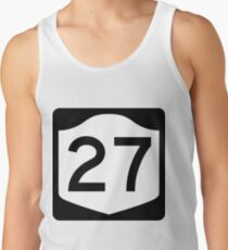 New York State Route NY 27 | United States Highway Shield Sign Men's Tank Top
