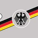 Deutschland D Tag with Eagle and Flag by edsimoneit