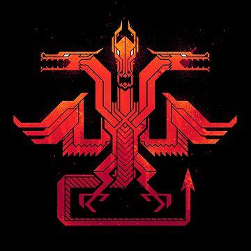 Red Dragon Sigil by etall
