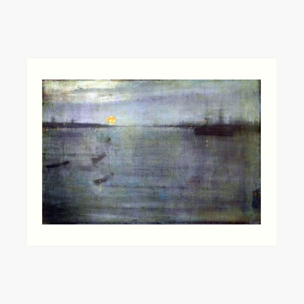 James McNeill Whistler Nocturne Blue and Gold Southampton Water Art Print