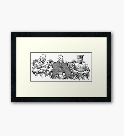 Yalta Conference 1945 Framed Print