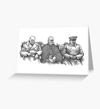 Yalta Conference 1945 Greeting Card