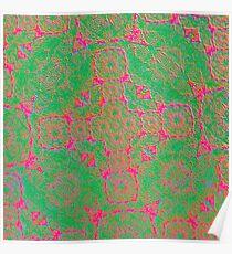 Iridium Atoms Green Pink Poster