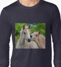 Cuddling Haflinger foals Long Sleeve T-Shirt