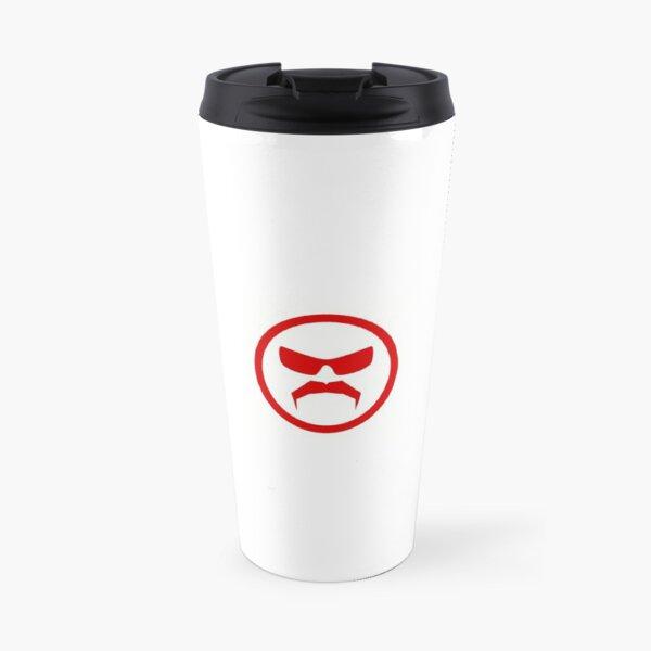 Dr. Disrespect Logo White Travel Mug