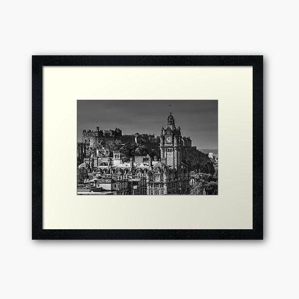 Edinburgh Castle & The Balmoral Hotel, Scotland Framed Art Print