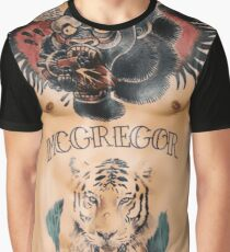 Conor McGregor Tattoos Chest and Stomach Graphic T-Shirt