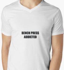 Camiseta para hombre de cuello en v press de banca adicto 7e794ce6a1a