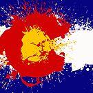 Colorado Flag Paint Splash by Andrewdotcom