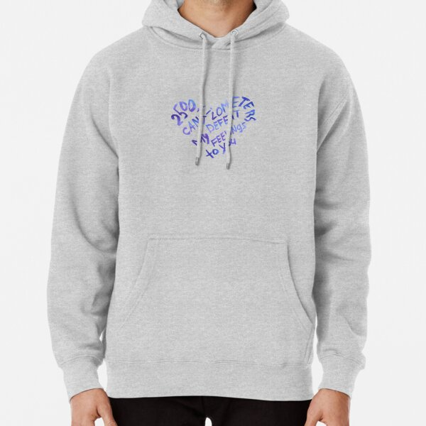 2500 kilometers can't defeat my feelings to you Pullover Hoodie