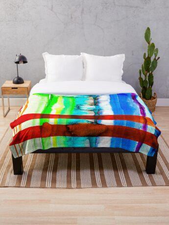 BAANTAL / Lines #4 Throw Blanket