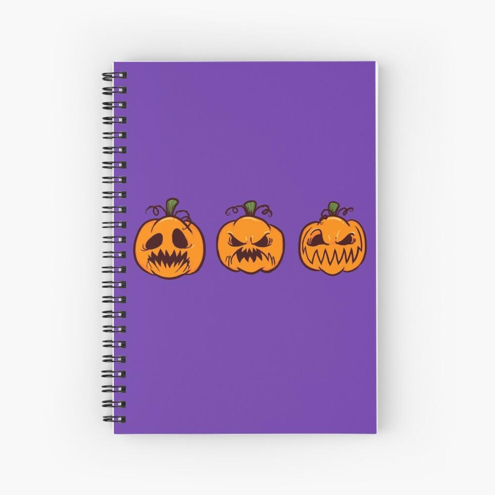 Mischievous Pumpkins Spiral Notebook