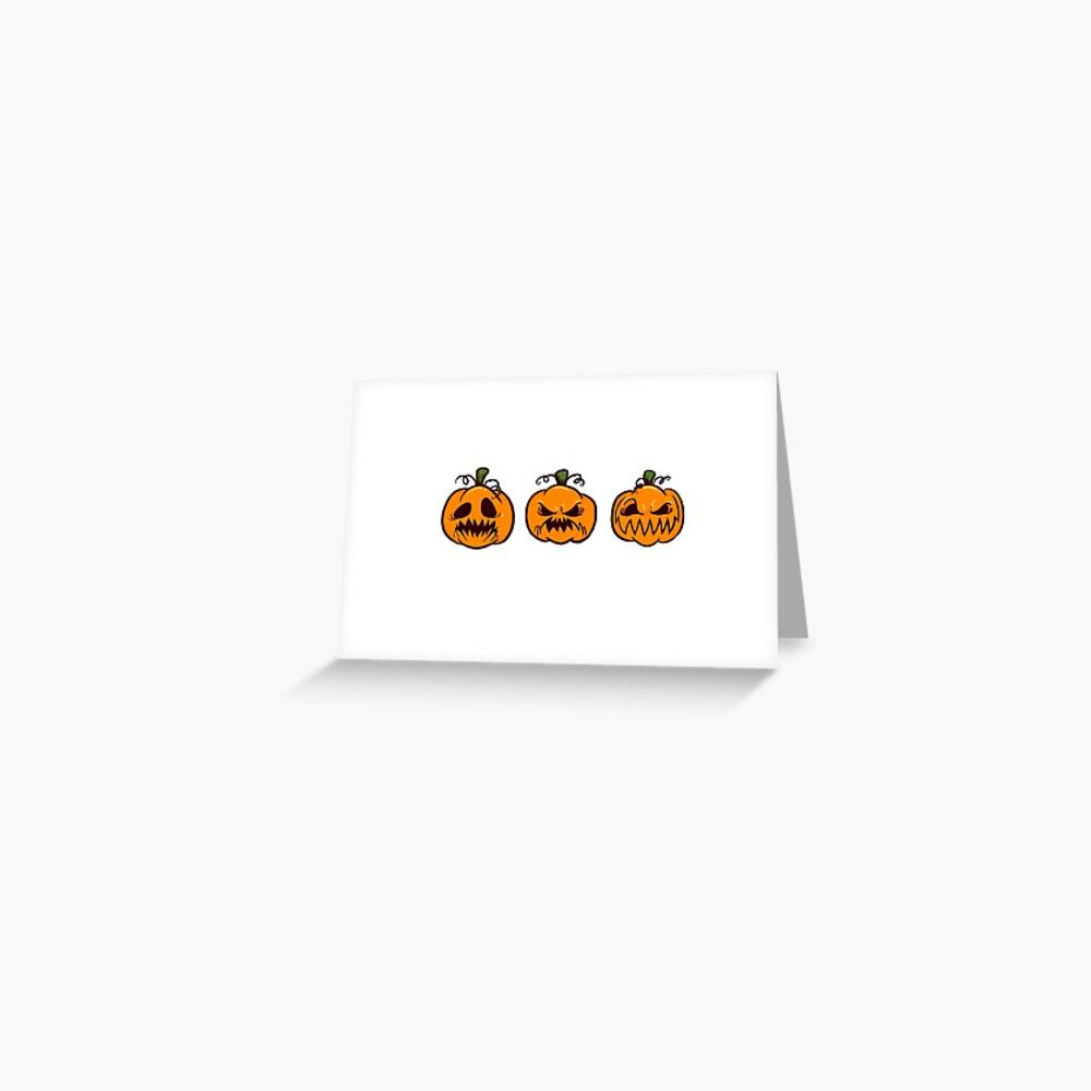 Mischievous Pumpkins Greeting Card