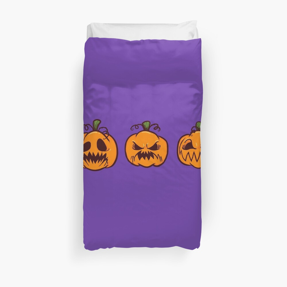 Mischievous Pumpkins Duvet Cover