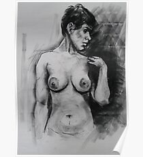 Spanish girl - life drawing session Poster