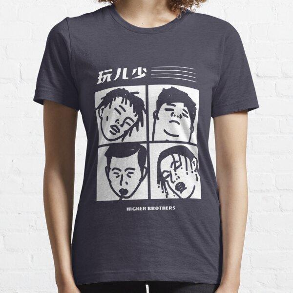 HIGHER BROTHERS - CARTOON BLACK  Essential T-Shirt