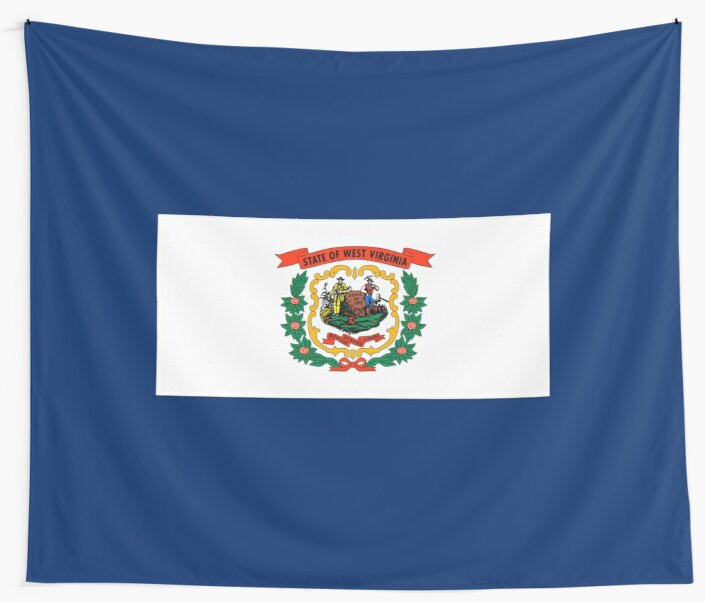 West Virginia State Flag Wall Tapestries By Skylinesquirrel Redbubble
