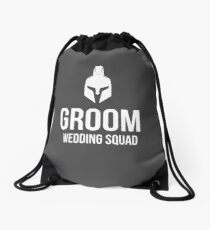 Groom Wedding Squad- Goods and T-Shirts Drawstring Bag