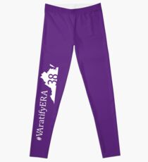 Vertical white state logo with hashtag Leggings