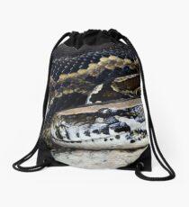Burmese Python Drawstring Bag