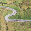 Hairpin bends at Glengesh Pass by Marie Carr