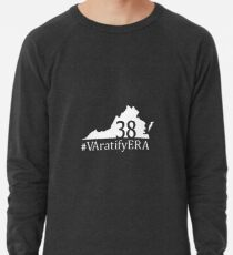 White state logo with hashtag Lightweight Sweatshirt