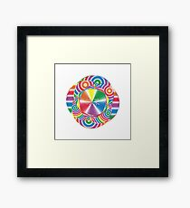 Candy Abstract Design Framed Print
