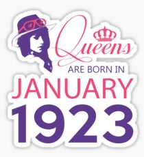 It's My Birthday 95. Made In January 1923. 1923 Gift Ideas. Sticker