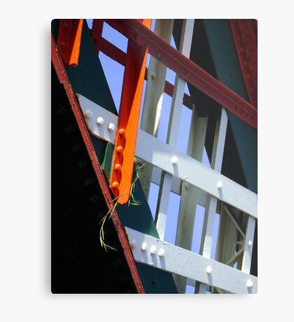 amid steel (plant and bridge-girders) Metal Print