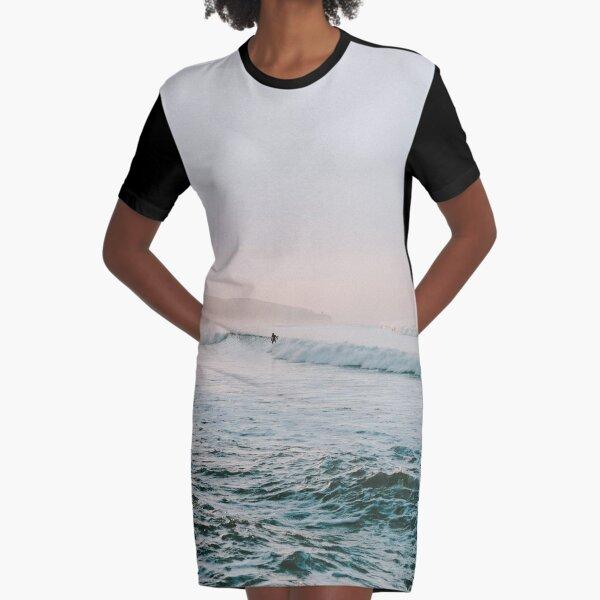 Summer Waves Graphic T-Shirt Dress