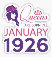 It's My Birthday 92. Made In January 1926. 1926 Gift Ideas. Sticker