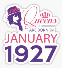It's My Birthday 91. Made In January 1927. 1927 Gift Ideas. Sticker
