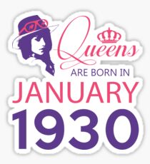 It's My Birthday 88. Made In January 1930. 1930 Gift Ideas. Sticker