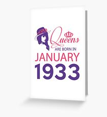 It's My Birthday 85. Made In January 1933. 1933 Gift Ideas. Greeting Card