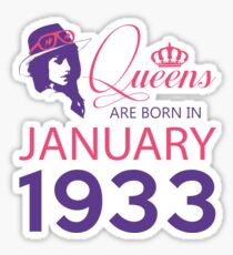 It's My Birthday 85. Made In January 1933. 1933 Gift Ideas. Sticker