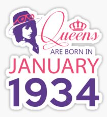 It's My Birthday 84. Made In January 1934. 1934 Gift Ideas. Sticker