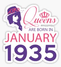 It's My Birthday 83. Made In January 1935. 1935 Gift Ideas. Sticker
