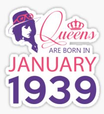 It's My Birthday 79. Made In January 1939. 1939 Gift Ideas. Sticker