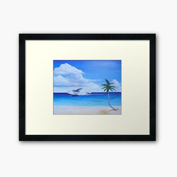 Pan Am Clipper Framed Art Print