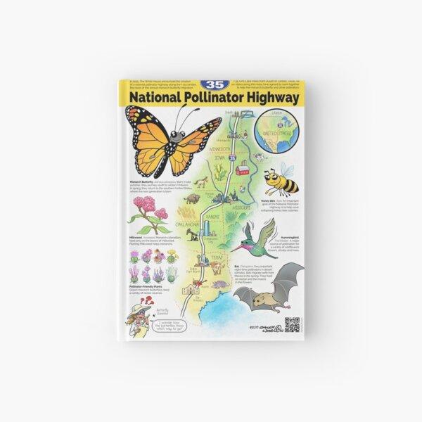 US National Pollinator Highway Map - I-35 Hardcover Journal