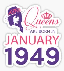 It's My Birthday 69. Made In January 1949. 1949 Gift Ideas. Sticker