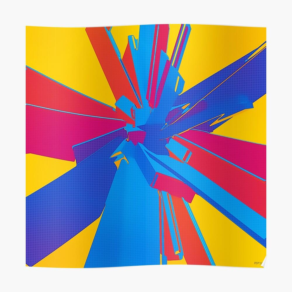 Pop Art Structure Poster