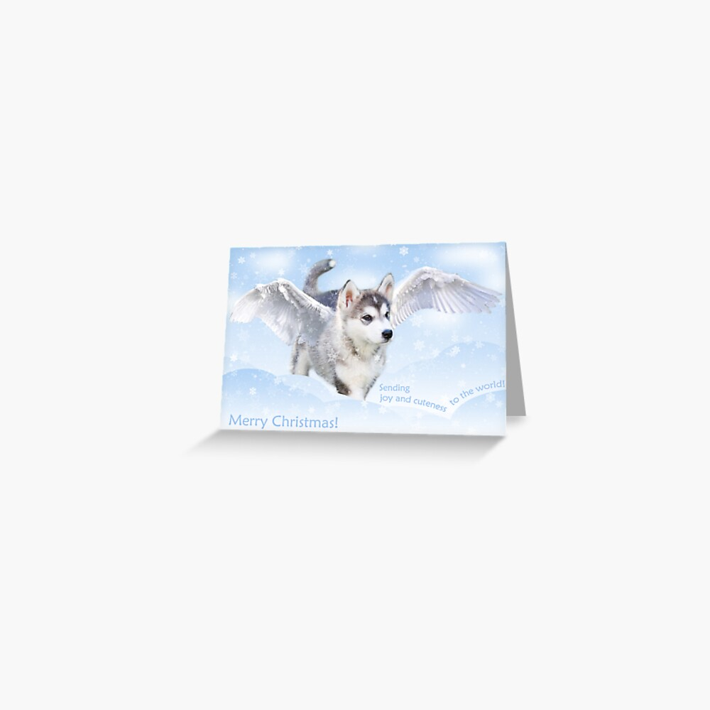 Angel puppy christmas card Greeting Card